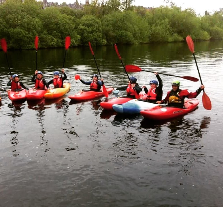 kayak skills course on the river in cork, ireland
