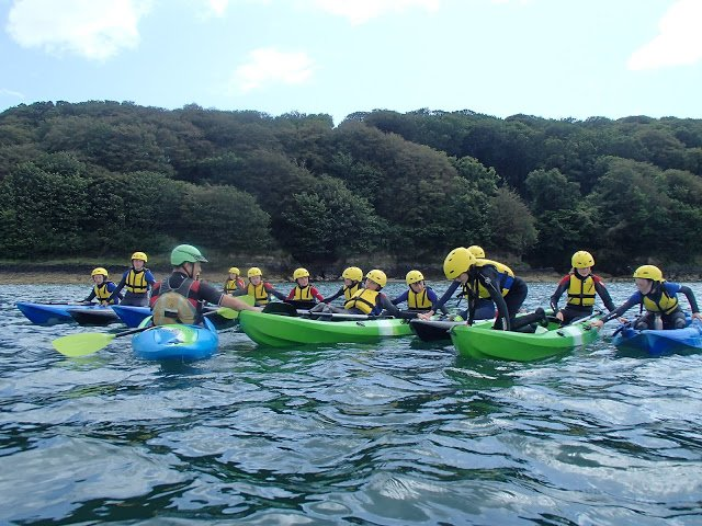 kids kayaking on the sea, watersports in cork