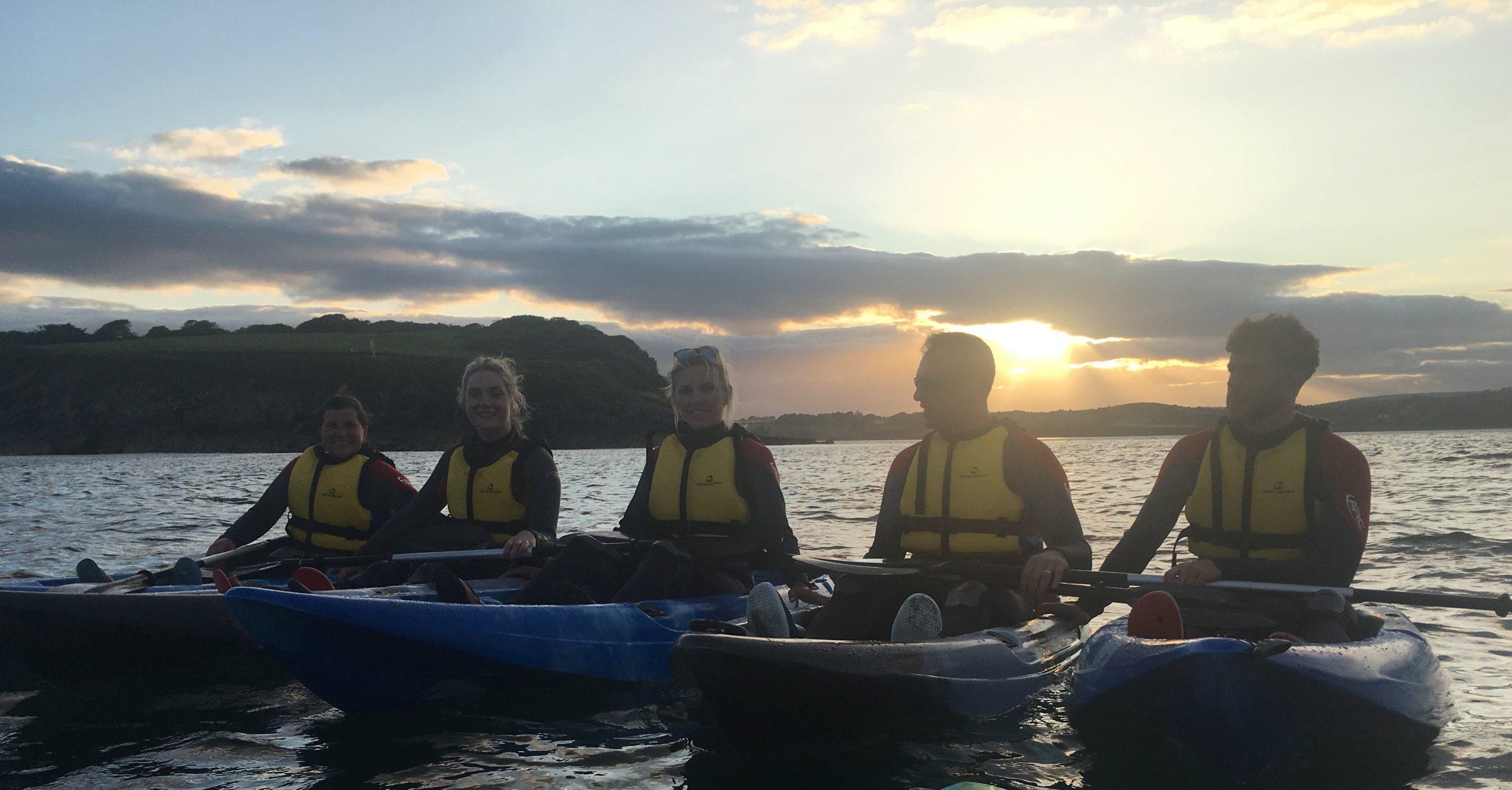 sunset sea kayak coast tour courtmacsherry cork ireland