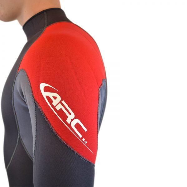 adult wetsuit shoulder