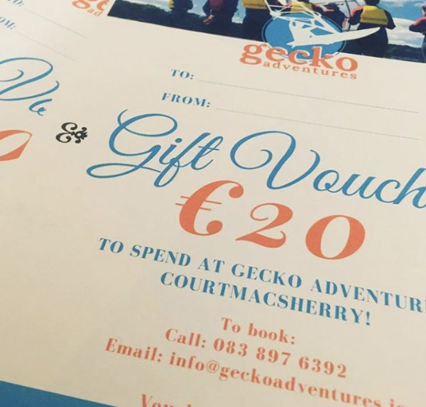 Gift voucher for Gecko adventures