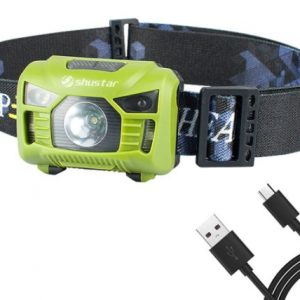 USB Rechargeable Waterproof Headlamp Torch with Motion Sensor