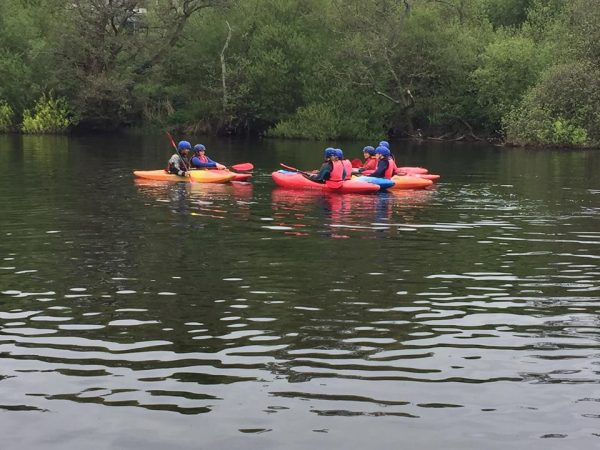 group of kayakers in cork