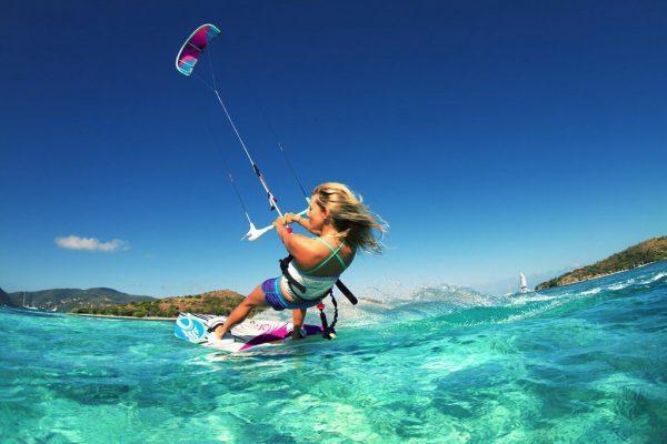 kitesurf girl in cork, ireland