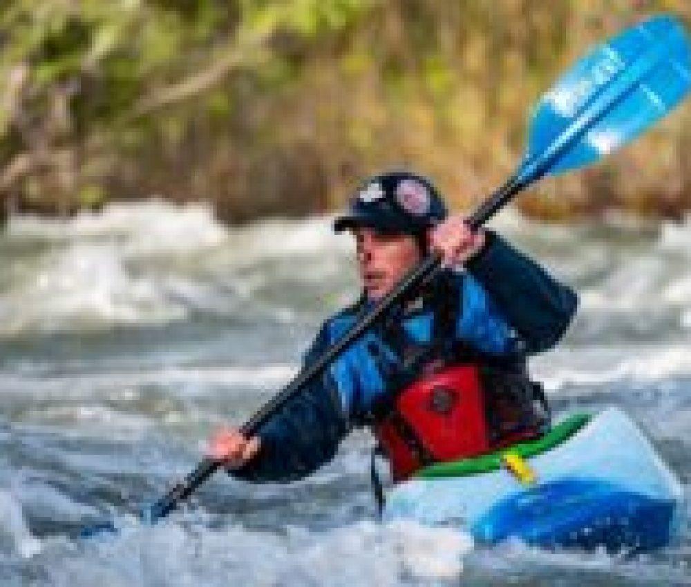 white water kayaker